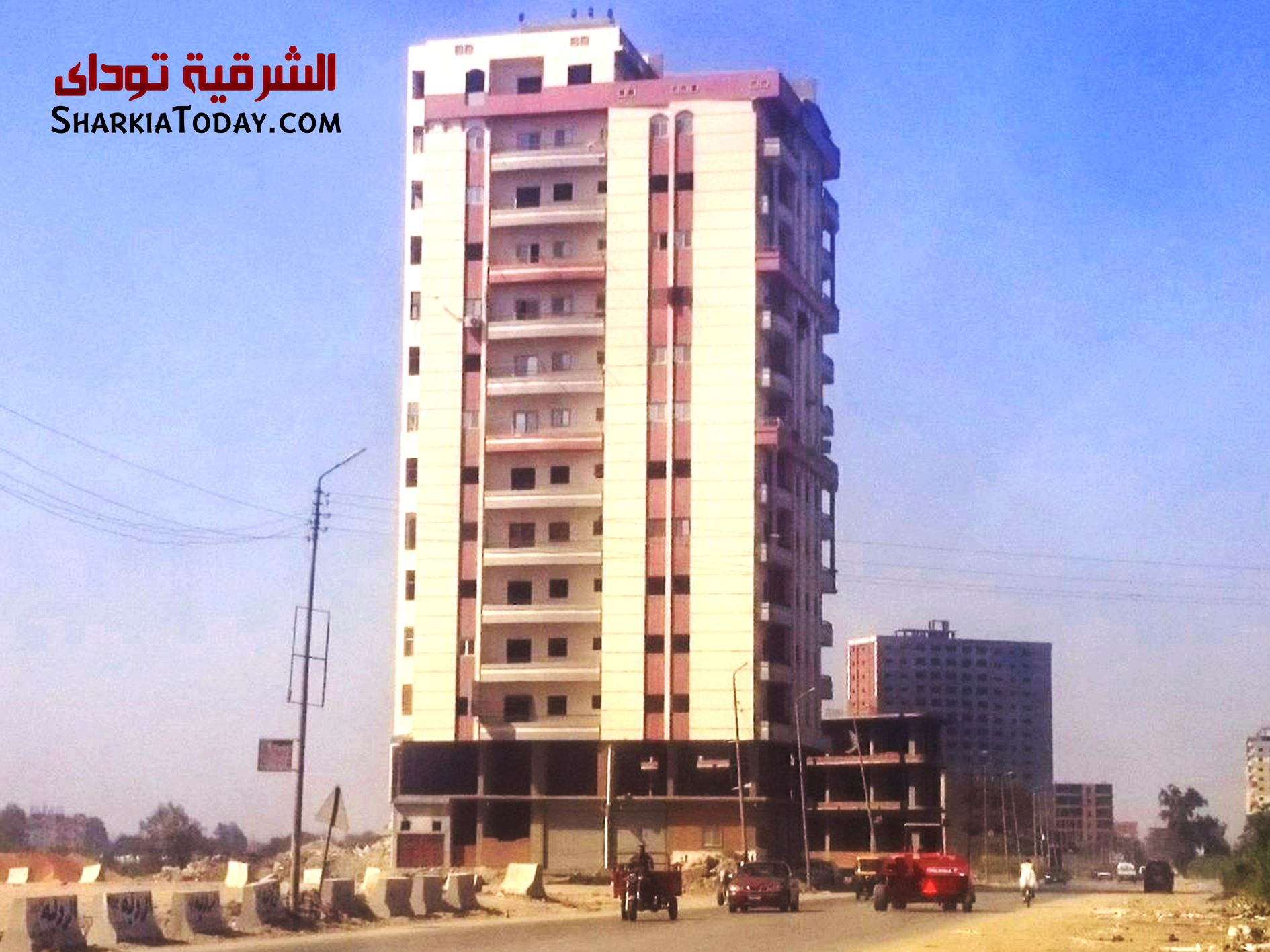 الكاملة لتفجير برج سكني مخالف بمنطقة الغشام بالزقازيق