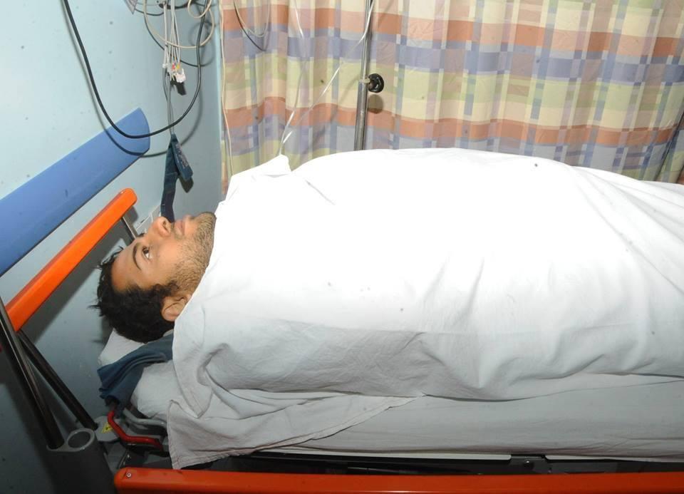 «محمد الحايس» يصل إلى أحد مستشفيات القوات المسلحة 1