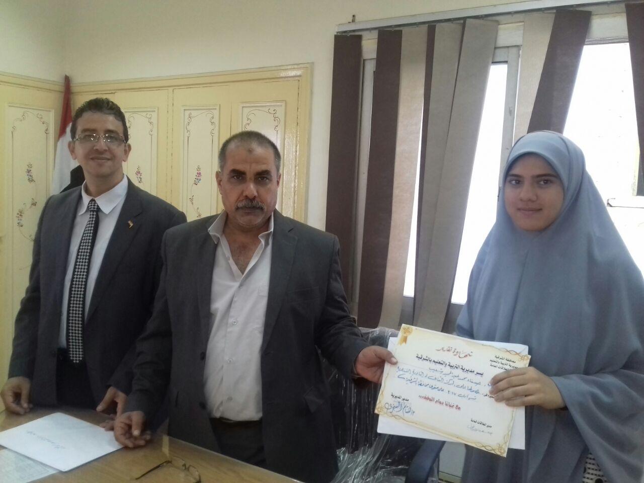أوائل الثانوية العامة والأزهرية بالشرقية بجائزة الدكتور «محمد أبو الخير» 2