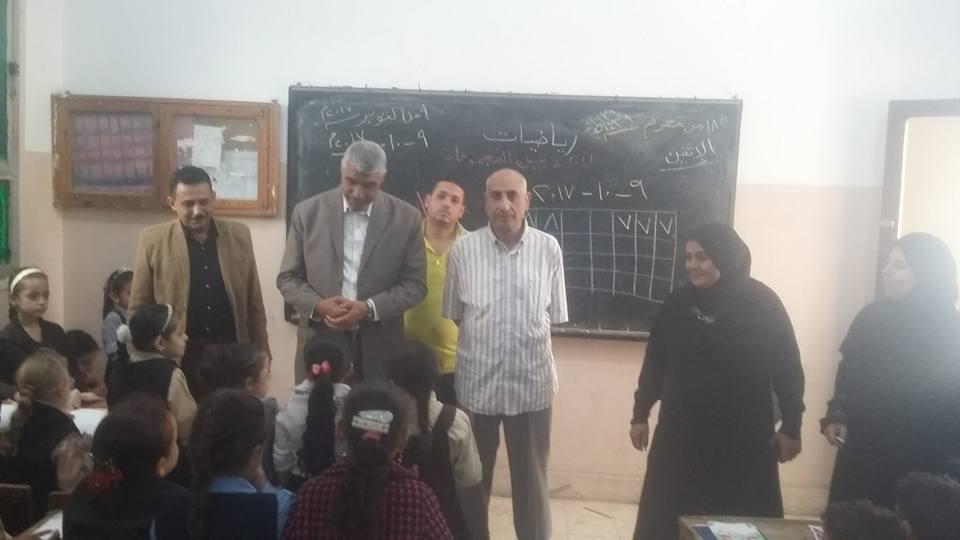 إدار ه أبوكبير التعليمية يتفقد مدارس المدينة