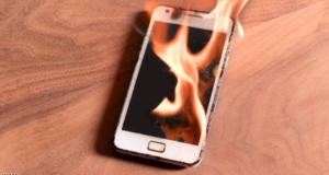 ارتفاع حراراة الهاتف