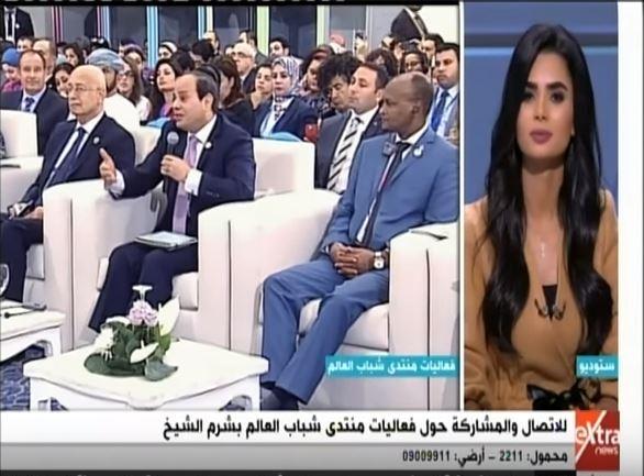 المتصلين يلقي قصيدة في حب الرئيس السيسي