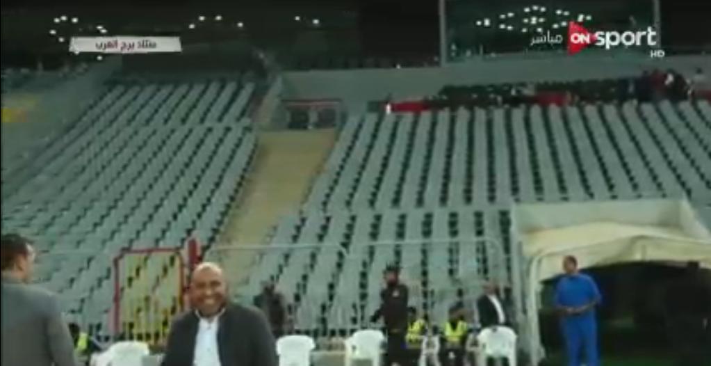 في ملعب مباراة الأهلي والإسماعيلي