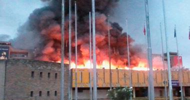 المدنية تسيطر علي حريق بمخزن ببلبيس