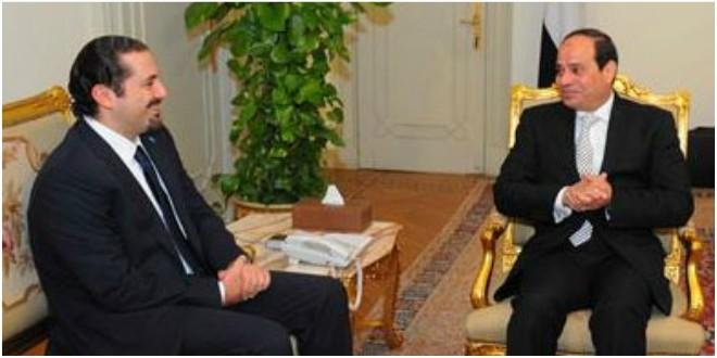 رئاسة الجمهورية على زيارة الحريري لمصر