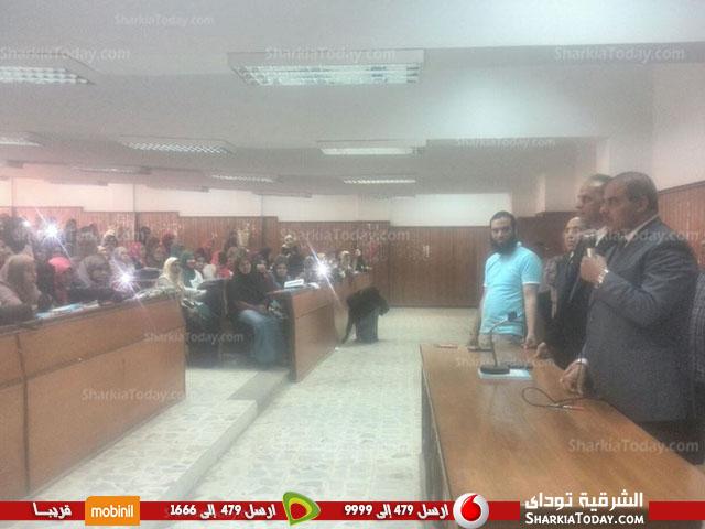 جامعة الأزهر يتفقد الدراسات الإسلامية والعربية بنات بالزقازيق