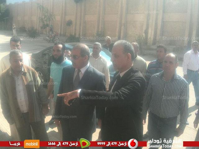 جامعة الأزهر يتفقد الدراسات الإسلامية والعربية بنات بالزقازيق2