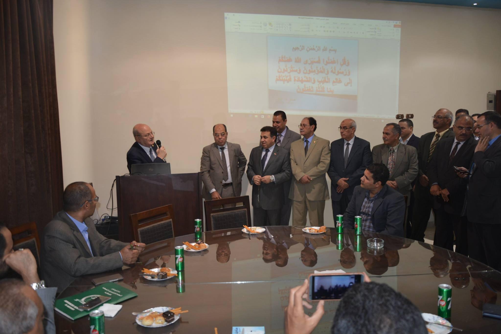 جامعة الزقازيق يلتقي ممثلي وزارة المالية 1