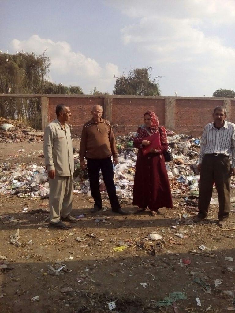 المخلفات الصلبة بالشرقية تتابع مقلب القمامة بالإبراهيمية