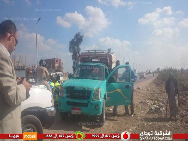 الشرقية يضبط تسير عكس الاتجاة على طريق «الزقازيق أبوحماد»