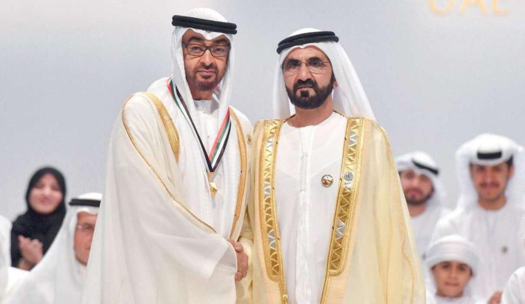 بن راشد ومحمد بن زايد يكرمان أوائل الإمارات