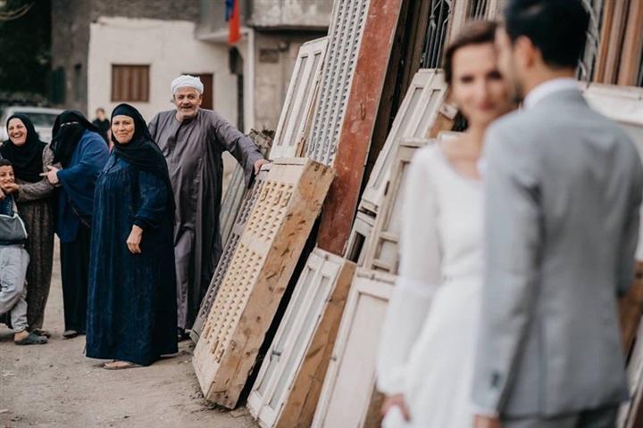 يتزوج ألمانية وجلسة تصوير مبهرة في شوارع القاهرة 1