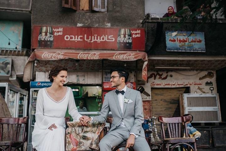 يتزوج ألمانية وجلسة تصوير مبهرة في شوارع القاهرة 7