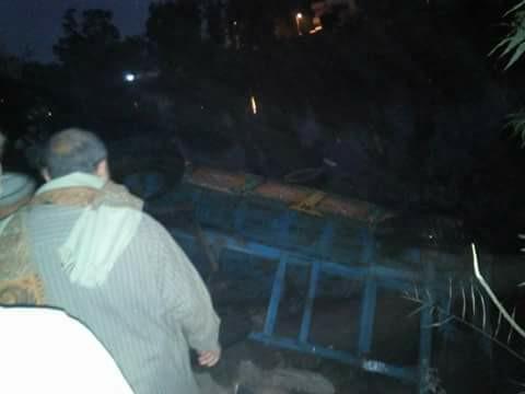 جرار زراعي في مياه بحر مويس بكفر صقر 1