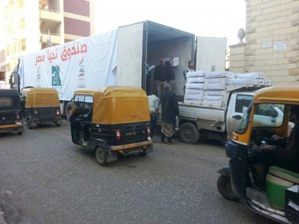 «بالهنا و الشفا» لتوزيع 40 ألف كرتونة مواد غذائية علي الأسر الفقيرة 2