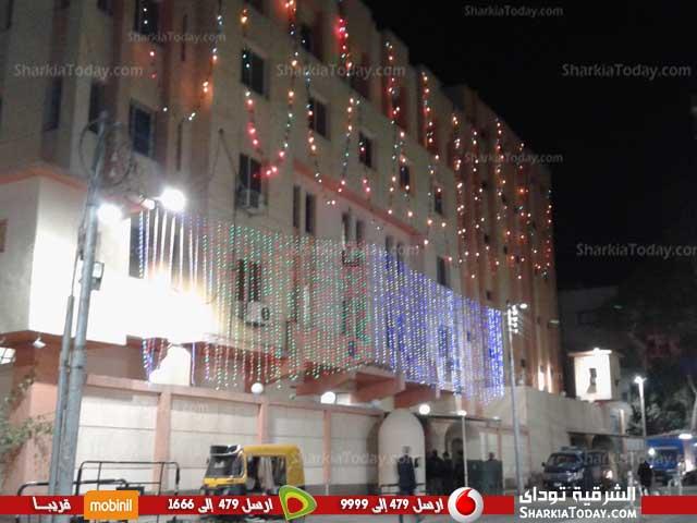 شرطة كفر صقر يتزين بالمصابيح احتفالاً بعيد الشرطة 3
