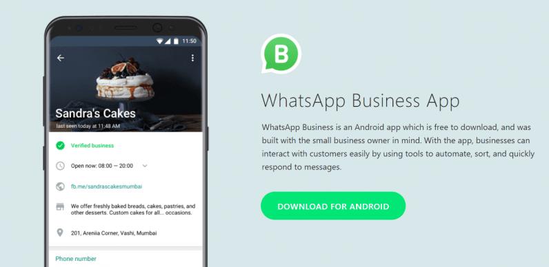 تطبيق whatsapp business