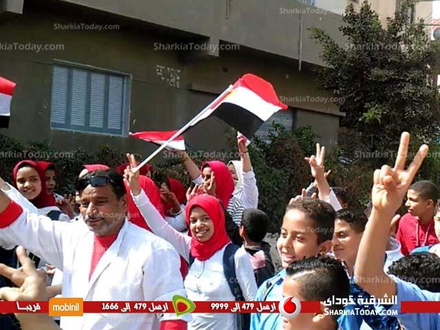 ورقص بالأعلام أمام اللجان بالصالحية القديمة 1