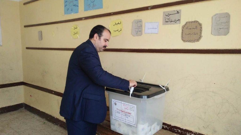 وزارة الصحة بالشرقية يدلي بصوته في انتخابات الرئاسة المصرية 2