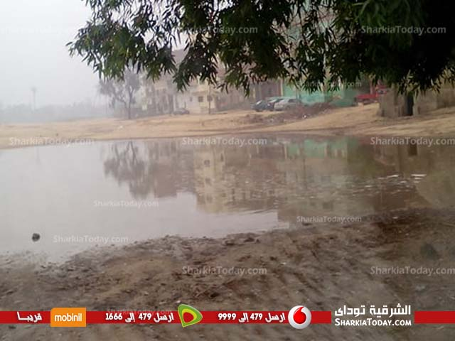 قرى أبوحماد تغرق في مياه الأمطار