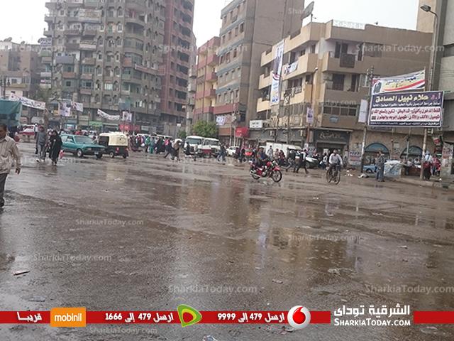 سقوط أمطار مصحوبة ببرق ورعد على مراكز ومدن محافظة الشرقية