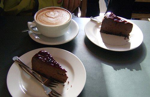 كعكة الشوكولا مع موكا القهوة