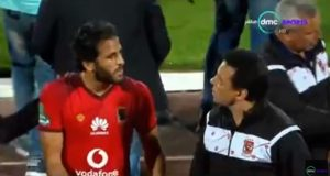مشادة بين حسام البدري ومروان محسن