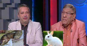 مفيد فوزي يرد على «فسيخ» تامر أمين بـ«الأرانب»
