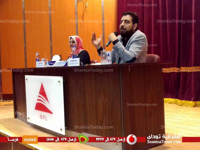 ندوة للكاتب كريم الشاذلي بمكتبة مصر العامة بالزقازيق
