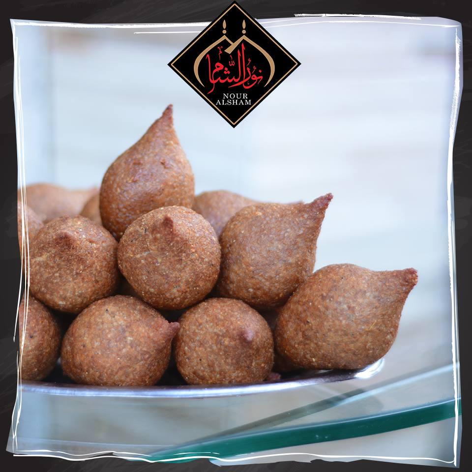 المقبلات بمطعم نور الشام السوري بالزقازيق