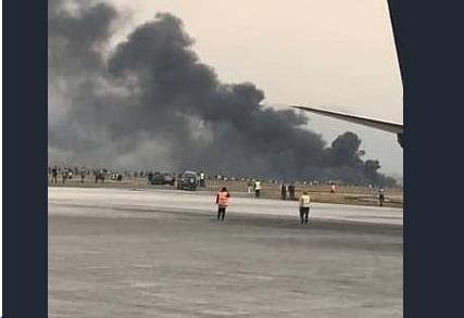 تحطم طائرة بوينج في مطار هافانا