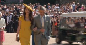 جورج كلوني و أمل علم الدين بحفل زفاف الامير هاري