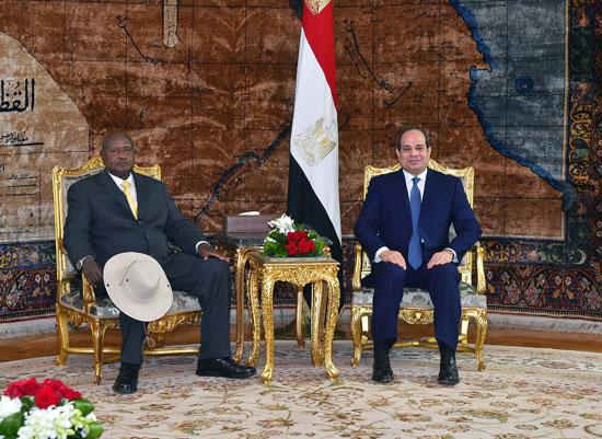 قمة السيسي والرئيس الأوغندي