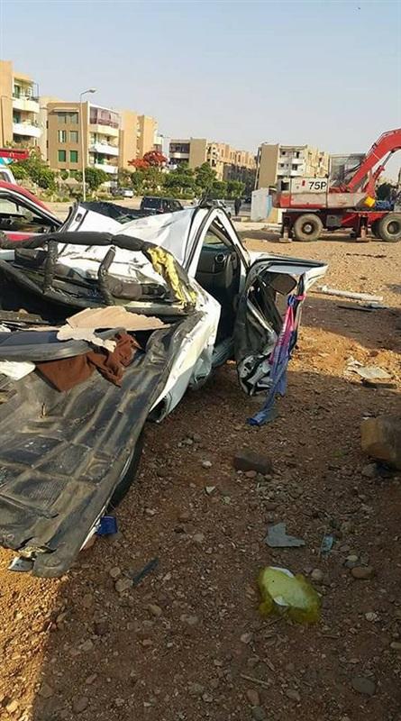 مصرع 4 أشخاص من قرية واحدة في حادث بطريق العاشر من رمضان