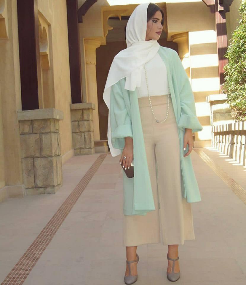 7b2a78f0090b4 ملابس محجبات لصيف 2018 من اطلالة فاطمة حسام.. صور