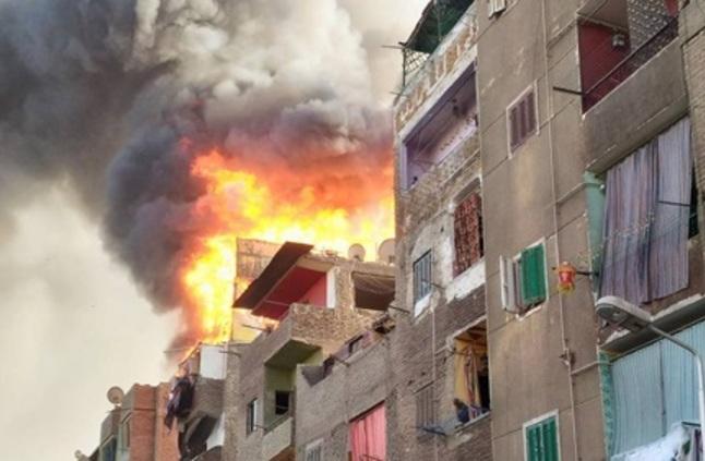 حريق بمنزل بالزقازيق