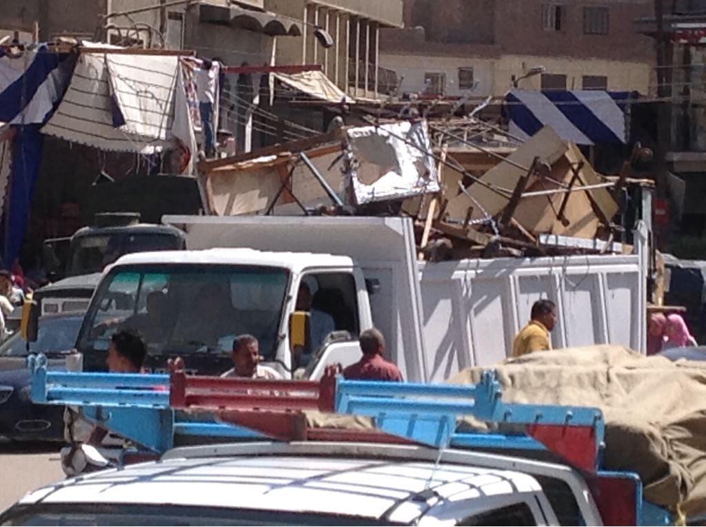 رئيس مركز مدينة الزقـازيق يتابع أعمال رفع الاشغالات بالمدينة