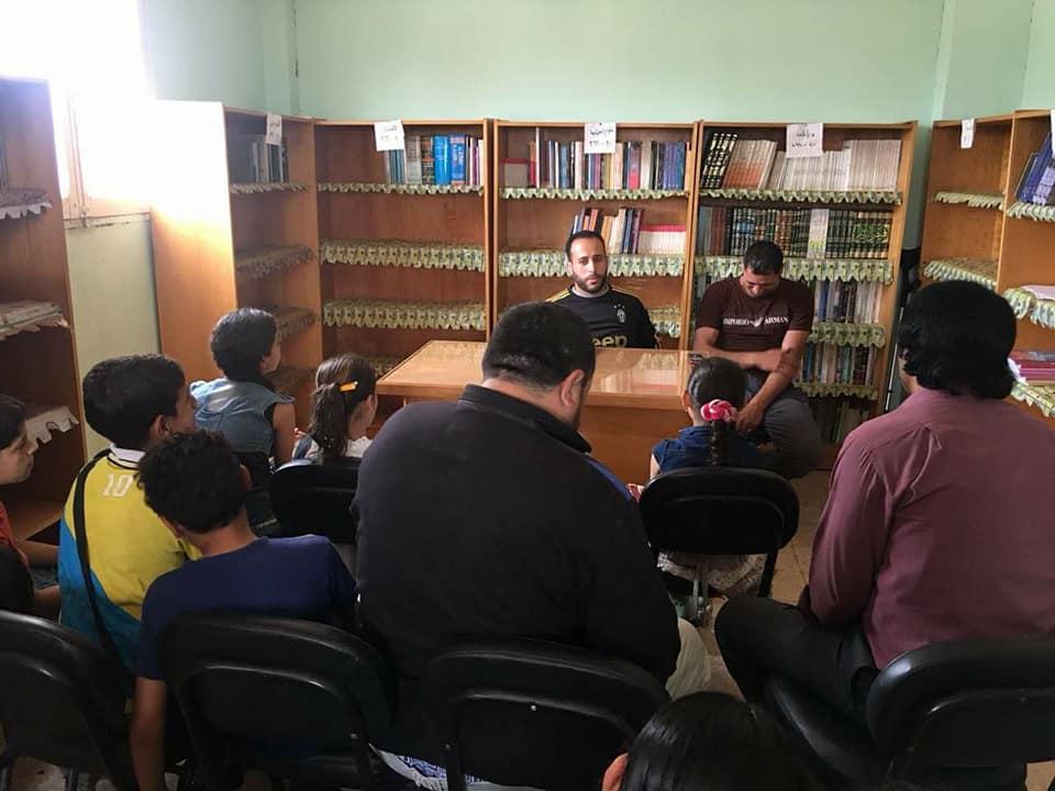 محاضرة عن شهر رمضان الكريم بمكتبة سلمنت الثقافية