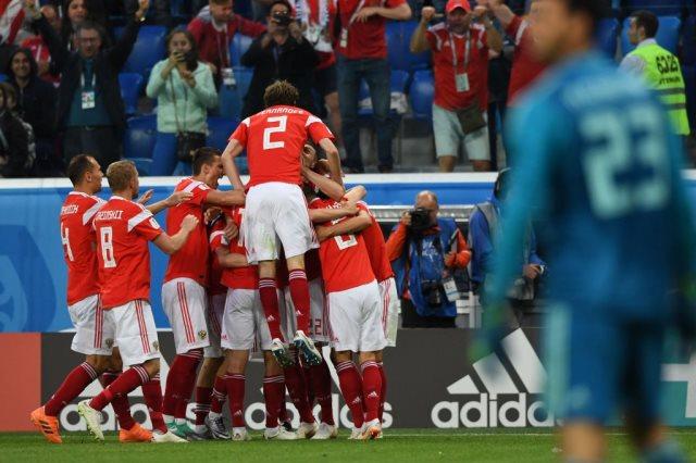 مباراة منتخب مصر و روسيا