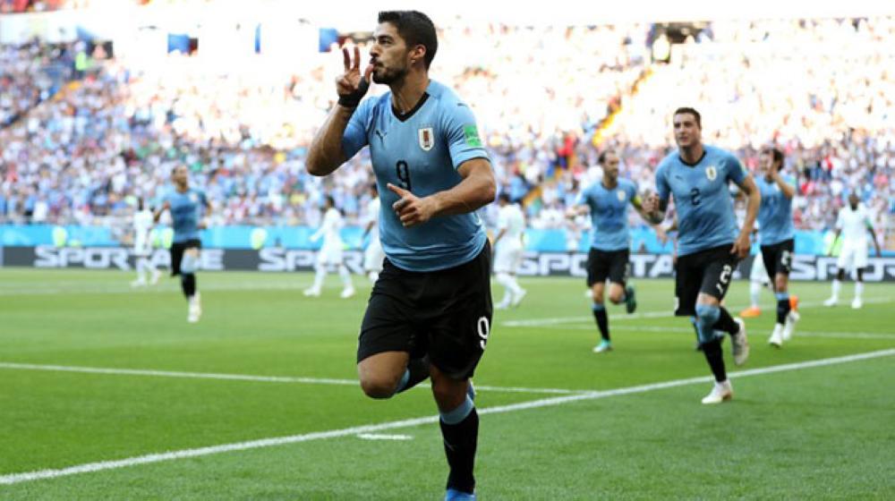 أوروجواي تفوز على روسيا بثلاثية نظيفة