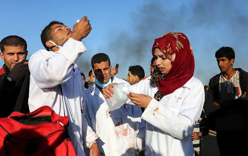 استشهاد المسعفة رزان النجار