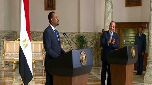 تصريحات لقاء السيسي ورئيس وزراء إثيوبيا