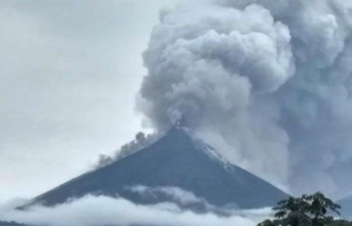 ثوران البركان فى جواتيمالا