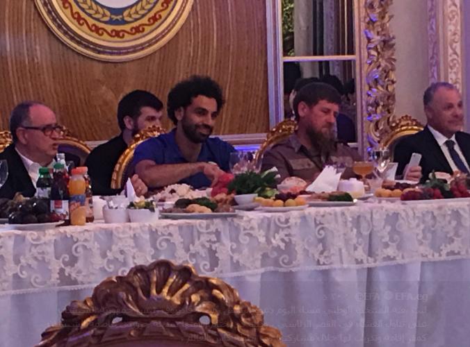 رئيس الشيشان يدعو بعثة منتخب مصر للعشاء