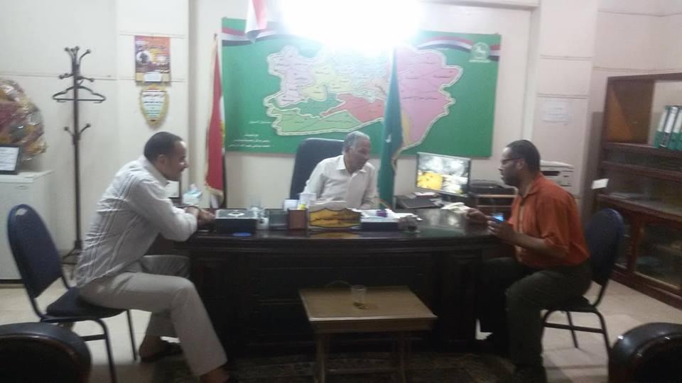 اجتماع الجمعية الشعبية مع رئيس مدينة بلبيس