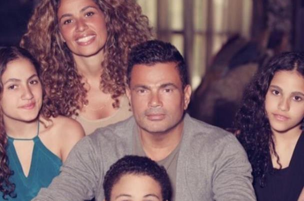 رد فعل صارم لابنتي عمرو دياب