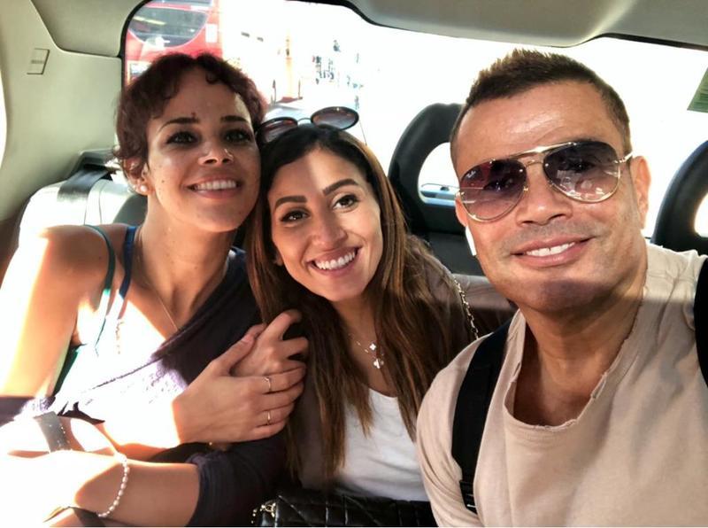 عمرو دياب مع ابنته ودينا الشربيني