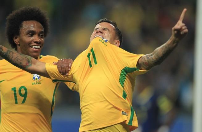 كوتينيو ينقذ البرازيل بهدف في كوستاريكا