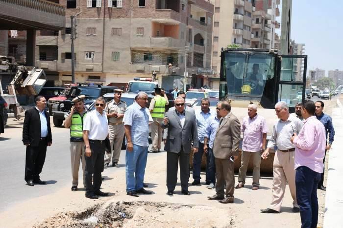 محافظ الشرقية يأمر بإزالة الأكشاك العشوائية على طريق الزقازيق - أبوحماد