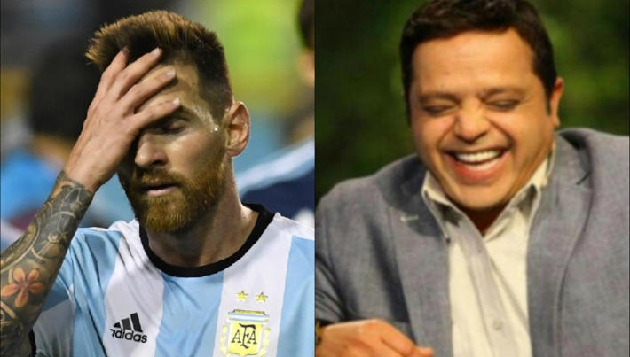 محمد هنيدي على هزيمة الأرجنتين من فرنسا